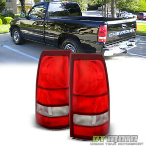 1999 2002 Chevy Silverado 1500 99 06 Gmc Sierra Red Tail Lights Lamps Left Right