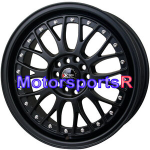 Xxr 521 17 X 7 38 Flat Black Lip Rims Wheels 5x114 3 06 15 16 Honda Civic Si Ex