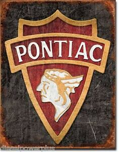 Vintage Replica Tin Metal Sign Pontiac Gm Chevy Chevrolet Classic Garage 1940
