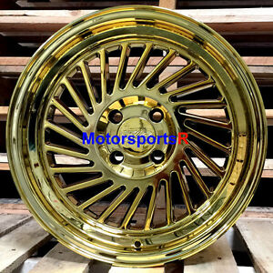 Xxr 005 15 X 8 0 Gold Pvd Wheels Rims Deep Step Lip 4x100 Stance Acura Integra