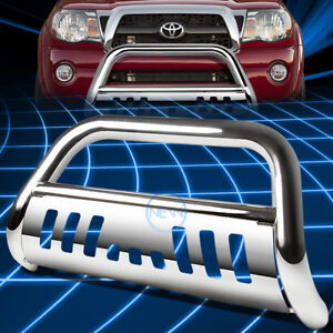 Chrome Ss Front Bumper Bull Bar Grille Guard For 2005 2015 Toyota Tacoma Pickup