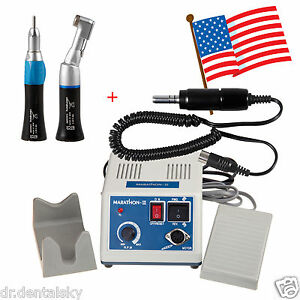 Dental Lab Marathon Micro Motor Electric straight Handpiece contra Angle Us Gqa