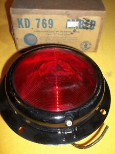 Vintage Kd 769 Red Turn Signal Tail Light Nos