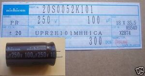 Electrolytic Capacitors 100uf 250vdc 300 Pcs