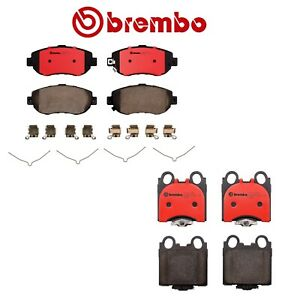 New Brembo Front Rear Brake Pads Set Ceramic Kit For Lexus Gs300 Gs400 Is300