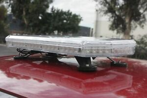 Amber White 56 Led Light Bar Roof Top Road Emergency Hazard Flash Strobe 56w