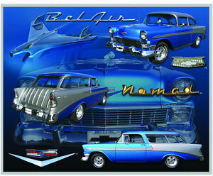 Vintage Replica Tin Metal Sign Chevy Chevrolet Belair Nomad 1956 Gm Parts 98298