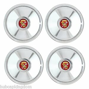 16 Sombrero Style Hot Rod Cadillac Chrome Hubcaps Wheelcover Set
