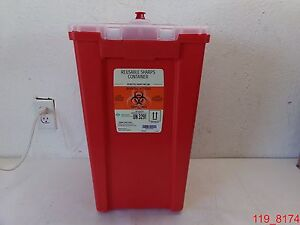 Qty 2 Stericycle Reusable Sharps Container Un 3291 50 Lbs