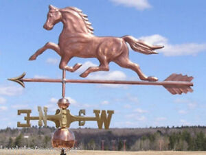 Wonderful Large Copper Horse W Arrow Weathervane Made In Usa 292