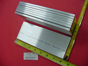 8 Pieces 1 4 X 3 Aluminum 6061 Flat Bar 8 Long T6511 Solid Plate Mill Stock