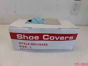 Qty 300 Polygard Disposable Shoe Covers Style No 15440 Size L Blue