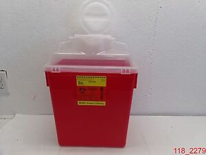 Qty 6 Bd Sharps Container Collector 6 Gal Ref 305465