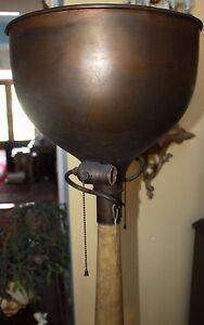 Austrian Biedermeier Style Solid Bronze Wood Torchere Mercury Glass Insert