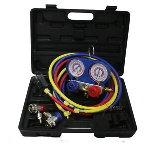 Ac Manifold Gauge Quick Coupler Air Conditioner Refrigeration R134a C f Reading