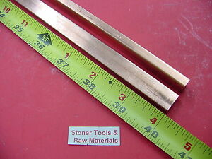 2 Pieces 1 4 x 1 2 C110 Copper Bar 40 Long Solid Flat 25 Bus Bar Stock H02