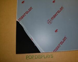 Black Polycarbonate Lexan Makrolon Sheet 1 4 X 24 X 16
