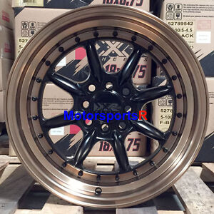 Xxr 002 5 Wheels 16x8 20 Black Bronze Lip Rims 4x100 Stance 01 Acura Integra