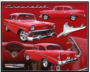 Vintage Replica Tin Metal Sign Chevy Chevrolet Emblem Car 1956 Gm Parts 98313