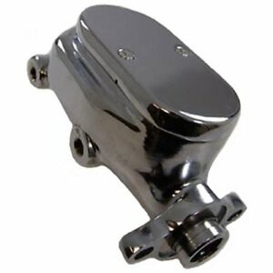 Gm Chrome Aluminum Brake Master Cylinder Screw Down Style Smooth Top 1 Bore