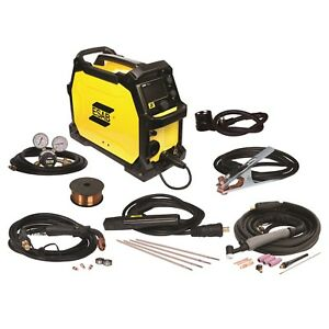 Esab Rebel Emp 215ic Mig stick tig Welder And Free Helmet Bundle 0558102240