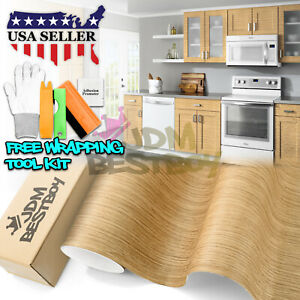 Oak Wood Textured Grain Decal Vinyl Wrap Sticker For Furniture Kitchen 1393