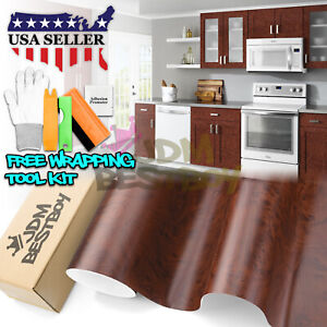 Oak Wood Grain Decal Vinyl Wrap Sticker For Furniture Kitchen 1300