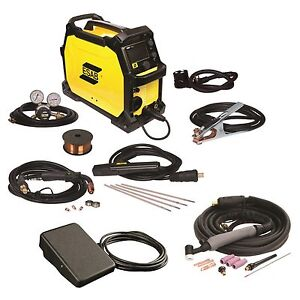 Esab Rebel Emp 215ic Mig stick tig Welder With Foot Control 0558102240