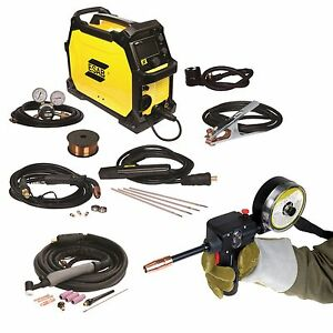 Esab Rebel Emp 215ic Mig stick tig Welder Spoolgun And Free Helmet 0558102240