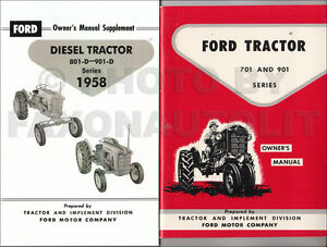 1958 1962 Ford 701 901 Diesel Tractor Owners Manual Set 741 771 941 971 981 d