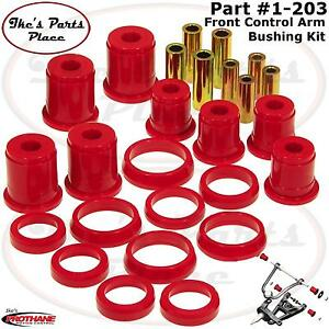 Prothane 1 203 Front Control Arm Bushing Kit pair 93 98 Jeep Grand Cherokee poly