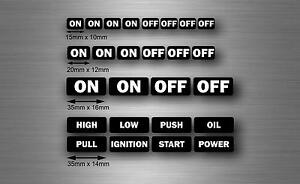 Set 26x Sticker Car Button Switch On Off Jdm Decal Tuning Tribal Kit Starter R8
