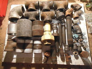Huge Lot Of Metal Pipe Fittings Pipe Mixed Sizes Used