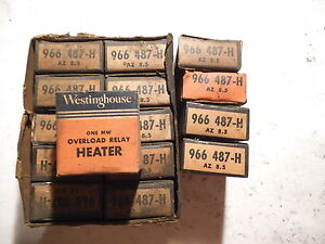Lot Of 15 Westinghouse Az 8 5 Overload Relay Heater 966 487 h