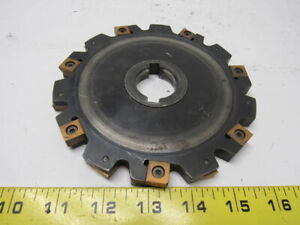 Carboloy 335 19 06 00 08 2 6 Slot Mill Cutter 1 1 4 Arbor Indexable Insert