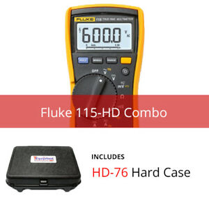 Fluke 115 hd True Rms Multimeter With Hard Case