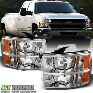 2007 2013 Chevy Silverado 1500 07 14 2500hd 3500hd Headlights Headlamps Pair Set