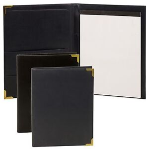 Leather Look Note Pad A4 Holder Folder Sleeve Memo Diary Conference Card Refill