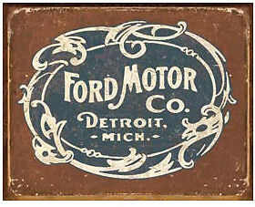 Vintage Replica Tin Metal Sign Poster Ford Motor Co Detroit Mi Tool Garage 1707