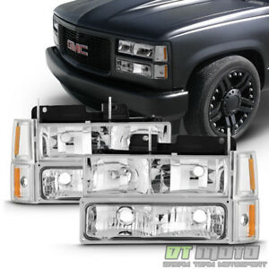 1994 1998 Gmc C k Sierra Yukon Suburban Headlights bumper Lights corner Lamps
