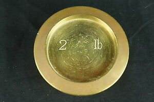 Excellent Antique Scale Weight 2lbs Y8 W7 A8