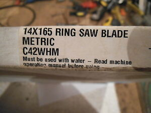 Diamond Products 90667 Wet Ring Saw Blade 14 X 165 C42whm Metric