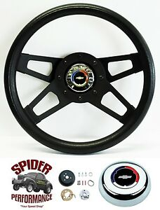 1967 Camaro Steering Wheel Red White Blue Bowtie 13 1 2 Black 4 Spoke Grant