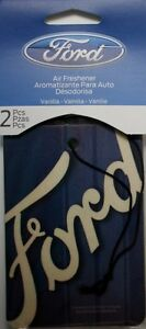 2 Pk Ford Vanilla Scented Auto Air Freshener Car Truck New Fresh Smell Hanging