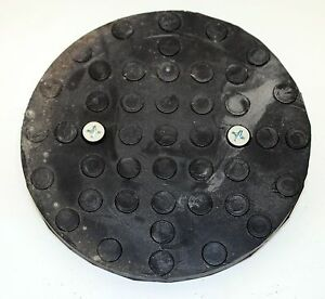 Qty 2 Round Rubber Pad For Auto Lift Challenger Ammco Vbm Po1a