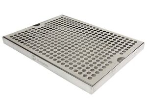 Kegco Sesm 129 Stainless Steel 12 X 9 Surface Mount Drip Tray No Drain