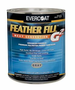 Fiberglass Evercoat 713 Feather Fill G2 Polyester Primer Surfacer Gray 1 Gallon