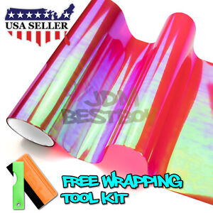 galaxy Chameleon Neo Chrome Red Headlight Taillight Fog Light Vinyl Tint Film