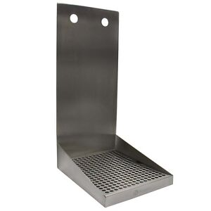 Kegco Sewm 810 2 8 Wall Mount Drip Tray With Drain 2 Shank Holes