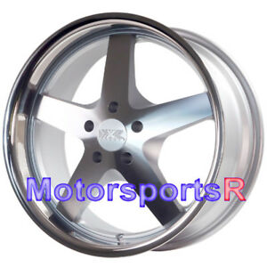 Xxr 968 Wheels Machine Silver Deep Lip 20x9 35 Rims 5x4 5 05 09 Ford Mustang Gt